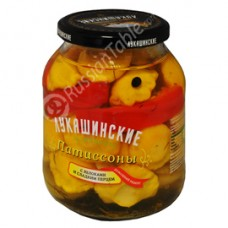 """Patty Pan (Squash) """"Lukashinskie"""" Pickled with Sweet Apples 670g"""