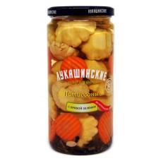 "Patty Pan ""Lukashinskie"" pickledwith spicy herbs 1500ml"