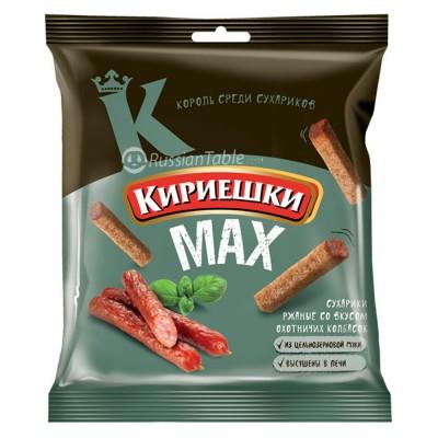 "Rye-wheat croutons ""Kirieshki MAX"" hunting sausages taste"