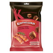 "Rye-wheat croutons ""Kirieshki"" with bacon flavour 100g"