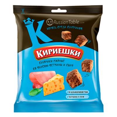"Rye-wheat croutons ""Kirieshki""  with ham with cheese flavour 40g"