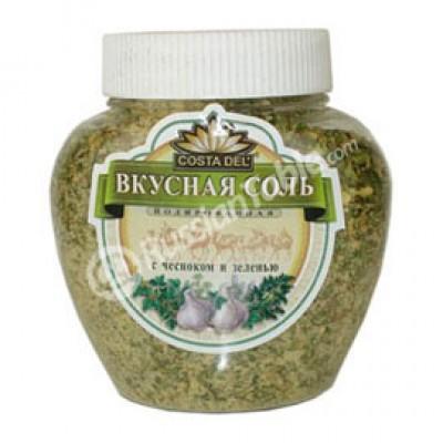 "Salt Mix ""Delicious Salt"" with Garlic and mixed Greens"