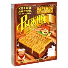 "Shortbread Cake Layers ""Ryzhik-Cheroka"" condensed milk flavored"