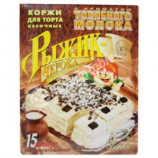 """Shortbread Cake Layers ""Ryzhik-Cheroka"" with baked milk flavour"