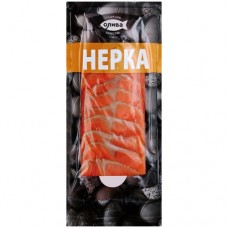 "SOCKEYE SALMON (Nerka) ""Oliva-Fakel"" Cold Smoked fillet (sliced) 150g"
