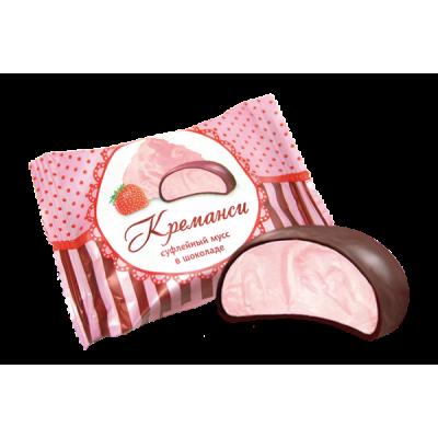 "Souffle Mousse ""Kremansi"" in Chocolate glaze"