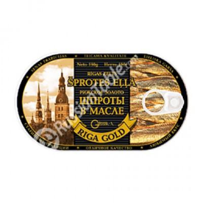 """Sprats in Oil """"Riga Gold"""" 190gr"""