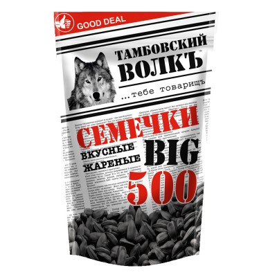"""Sunflower seeds """"Tambov wolf"""" delicious, fried 500 g"""