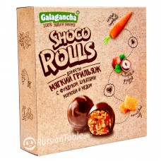 "Sweets ""GALAGANCHA Shoco Rolls"" Honey Hazelnuts 135g"