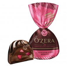 """Sweets """"OZera"""" with pieces of cherry"""