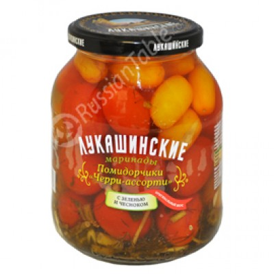 "Tomatoes Cherry assorted ""Lukashinskie"" Pickled 670g"