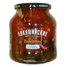 "Tomatoes pickled ""Lukashinskie"" Astrahan style with herbs 670g"