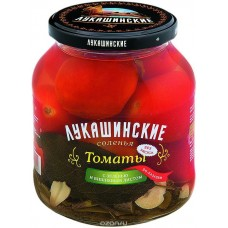 "Tomatoes salted ""Lukashinskie"" Cossacs-style with Cherry Leaf 670g"