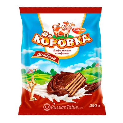 "Wafer candy ""Korovka"" Chocol taste (package)  250gr"