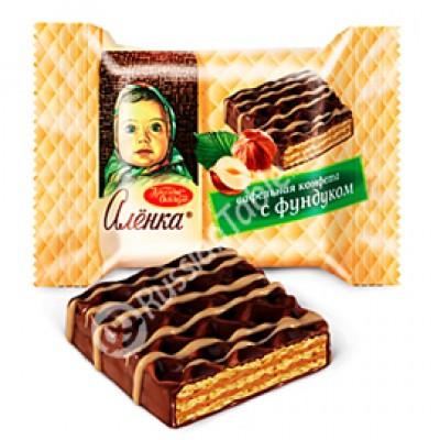 """Wafer sweets """"Alenka"""" with hazelnut"""