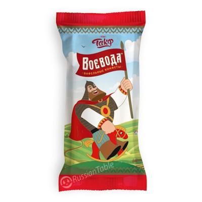"Wafer sweets ""Voyevoda"" with chocolate taste"