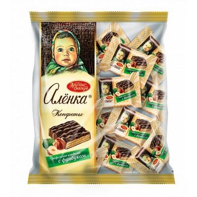 "Waffle candy ""Alenka"" with hazelnuts"