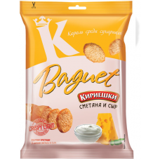 "Wheat croutons ""Kirieshki Baquet"" Sour cream and Cheese flavor"