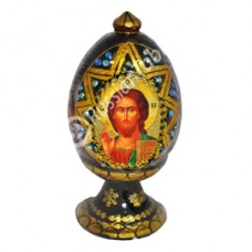 """Wooden Egg"" with natural flower honey w/ Jesus Christ icon"