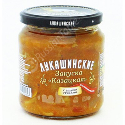 "Zakuska Kazatskaya ""Lukashinskiye"" with Porcini Mushrooms 450g"