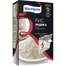 """Rice """"Indica"""" white long-grain in cooking bags, 400g"""