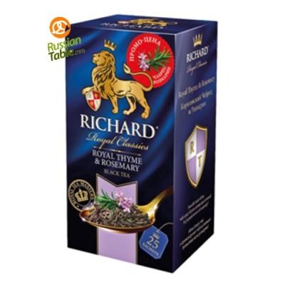 "Black tea ""Richard"" Royal Thyme and Rosemary (25 count)"