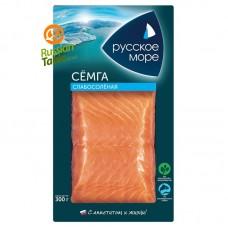 "Salmon Fillet (Semga) Lightly Salted ""Russkoe More"" 300g"