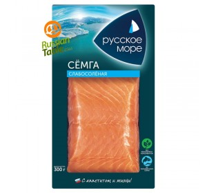 "Salmon Fillet (Semga) Lightly Salted ""Russkoe More"" 300g"