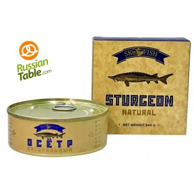 "Imported Russian Sturgeon ""Sk Fish"" in own juice 240g"