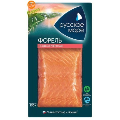 """Trout (Forel) Fillet Smoked """"Russkoe More"""" 300g"""